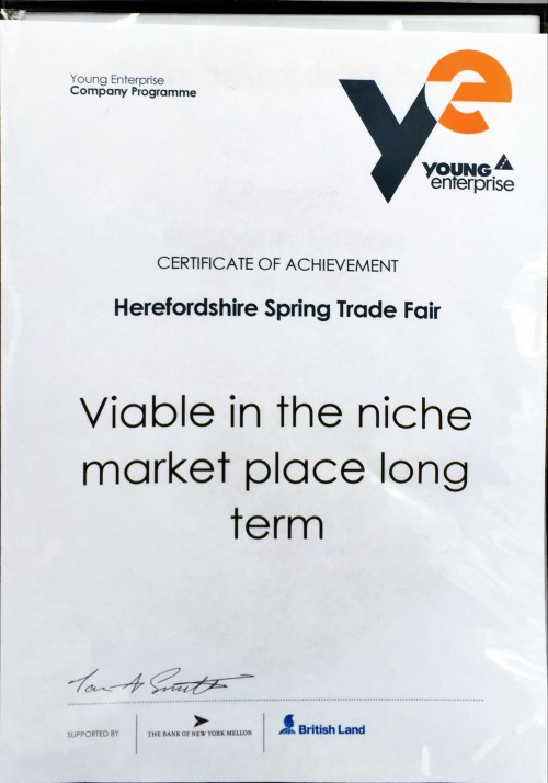 'Viable in the Niche Market Place Long Term' Award