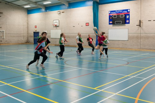 Netball in the Sports Hall