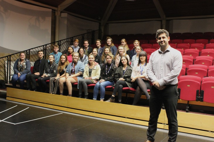 Pictured: Guest speaker, Scott Bellamy,  Marketing Recruitment Manager from The Royal Central School of Speech and Drama