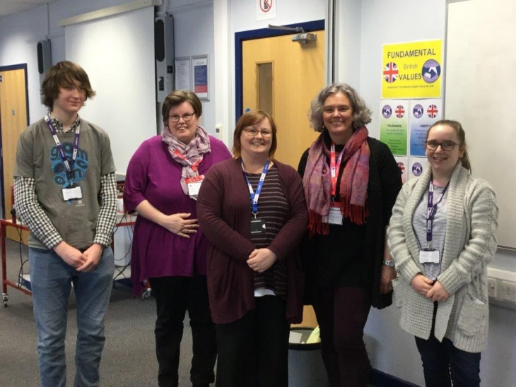Visitors from the Herefordshire branch of the National Autistic Society