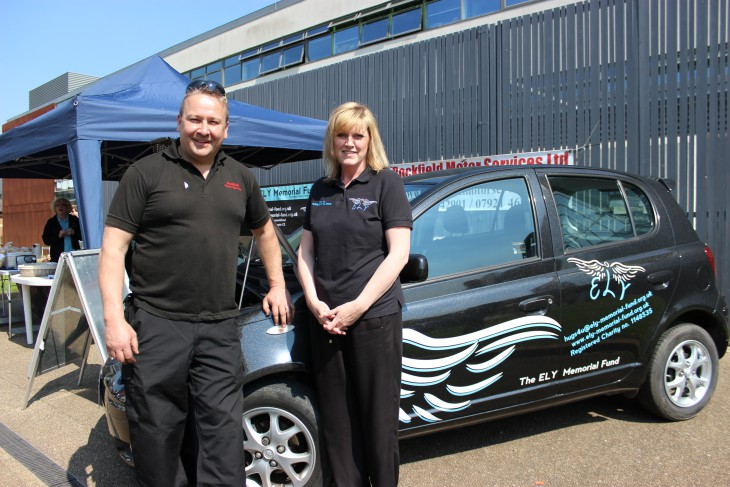 Rockfield Motor Services Ltd supporting the ELY Memorial Fund