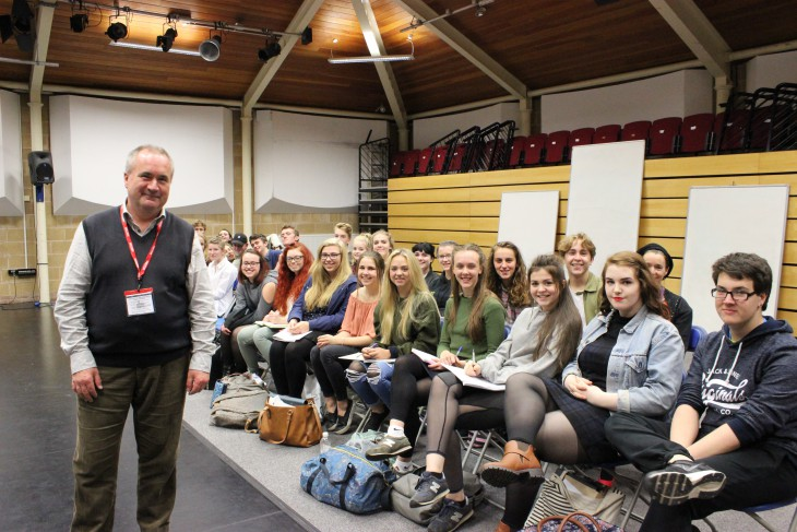 Pictured: Guest speaker, Paul Rummer, Principal, Bristol Old Vic Theatre School