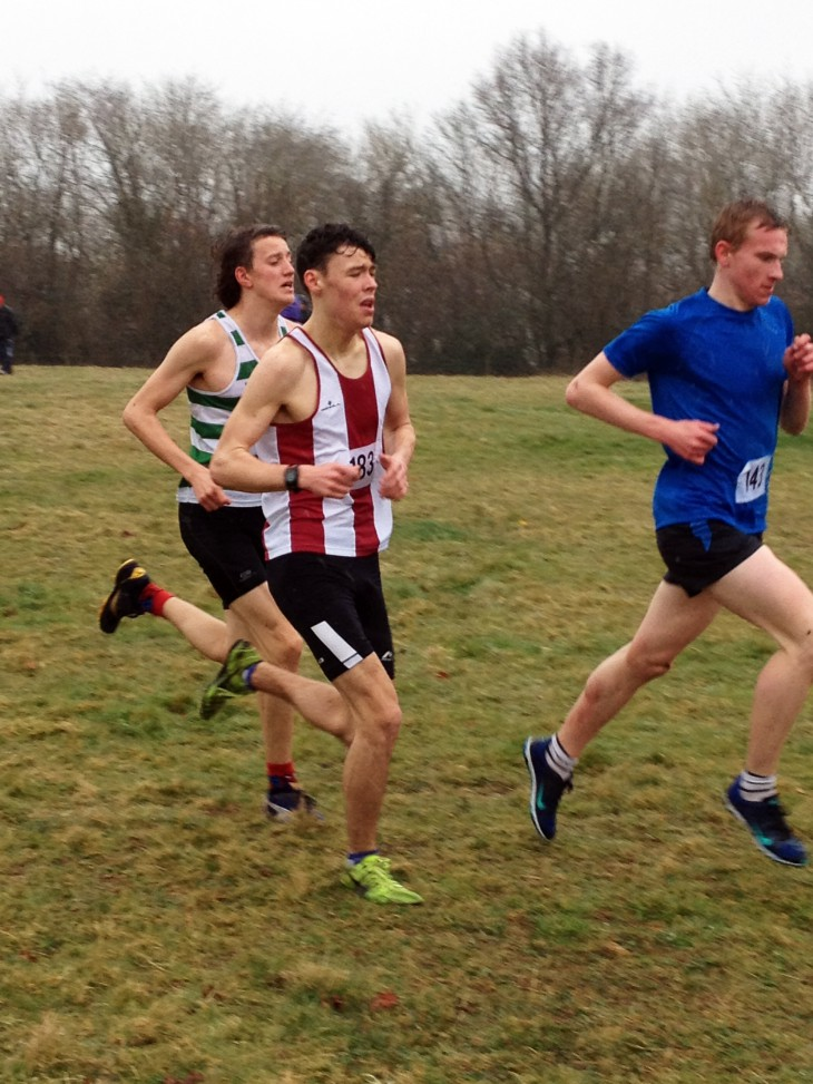 Ieuan Handley competing in the men's cross country