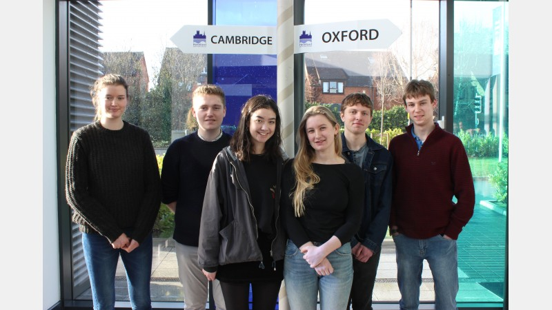 Students from Herefordshire: Georgie Archer, Will Roberts, Jasmine Stanley, Deia Russell-Smith, Joe Harper and Tom Morris