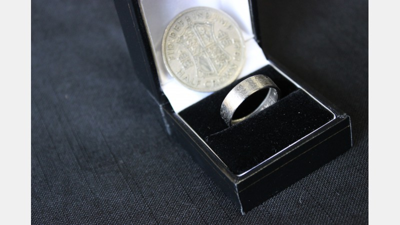 A ring produced from a Half Crown coin