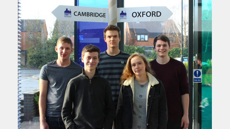 Students from the SY Postcode area: Rob Knight, Mark Pepper, James Milburn, Stella Farmer and Harry Langford