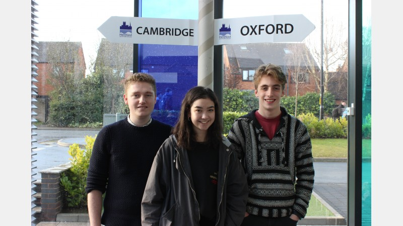 Will Roberts, Jasmine Stanley and Josh Lee (ex St Mary's RC High School)