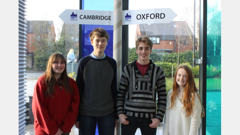 Students from Worcestershire: Tallula Kontic-Thomsen, Joe Xia, Josh Lee and Grace Anthony